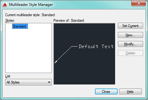 Mleader Style Manager
