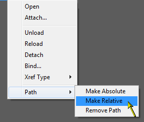 Making the path relative AFTER attaching.