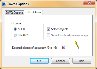 Exporting to DXF tips