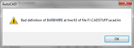 Bad linetype dialog