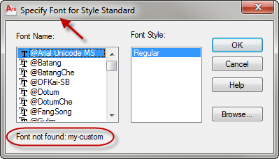Specify a font