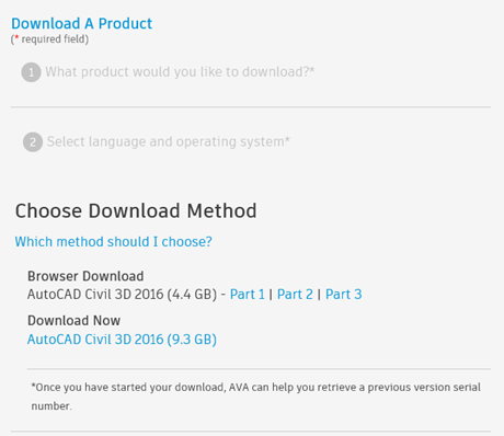 Downloading and installing Autodesk products