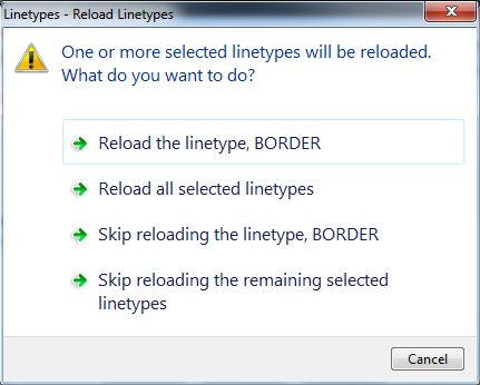 Reload / Update linetypes in AutoCAD 2017