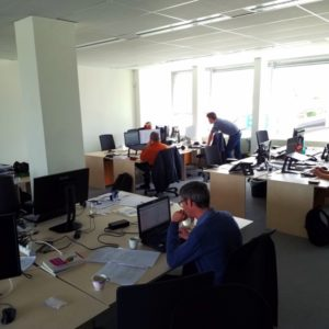 A shot of the interior of the Bricsys offices in Ghent, Belgium
