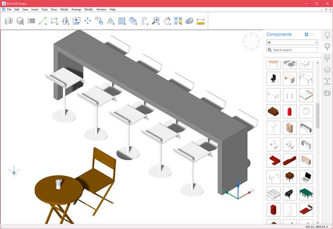 BricsCAD Shape – Free 3D conceptual modeling tool