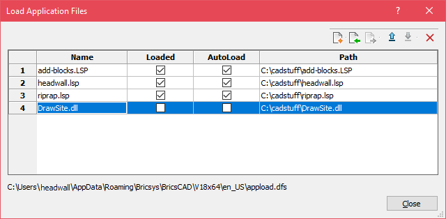 Startup Lisp Files in BricsCAD