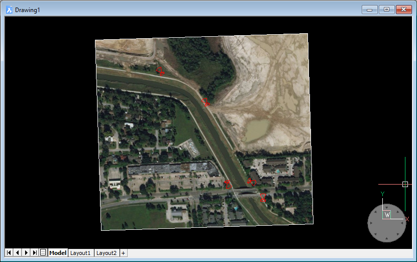 Inserting GPS images into your CAD drawing