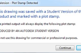 Return of the Autodesk Educational Watermark